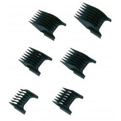 photo de Jeu de 6 sabots de tondeuse MOSER pour 1230 REX et PRIMAT, 1400,1660,1853,1854,1872,1873,1881