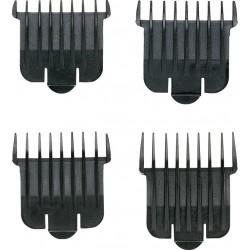 photo de Jeu de 4 sabots pour Tondeuse Andis D4D / D5 / PMC / PMT / RT1 / SLII / T-OUTLINER de 1.5–3–6–9.5 mm