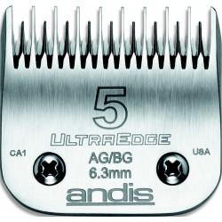 photo de Lame 6.3mm N°5 ANDIS, tête de coupe TC64079 pour tondeuse PRO AGC/AGR/BGC/MBG/SMC