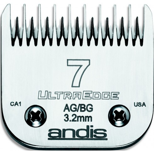 photo de Lame 3.2mm N°7 ANDIS, tête de coupe TC64080 dents espacées pour tondeuse PRO AGC/AGR/BGC/MBG/SMC