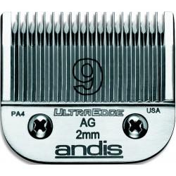 photo de Lame 2 mm N°9 ANDIS, tête de coupe TC64120 pour tondeuse PRO AGC/AGR/BGC/MBG/SMC