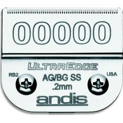 photo de Lame 0.20 mm N°00000SS chirurgicale ANDIS, tête de coupe TC64185 pour tondeuse PRO AGC/AGR/BGC/MBG/SMC