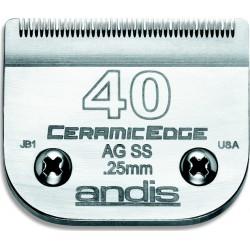 photo de Lame 0.25 mm N°40 chirurgicale céramique, tête de coupe TC64350 pour tondeuse PRO AGC/AGR/BGC/MBG/SMC
